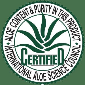 Certifikat Međunarodnog zdravstvenog savjeta za Aloe Veru